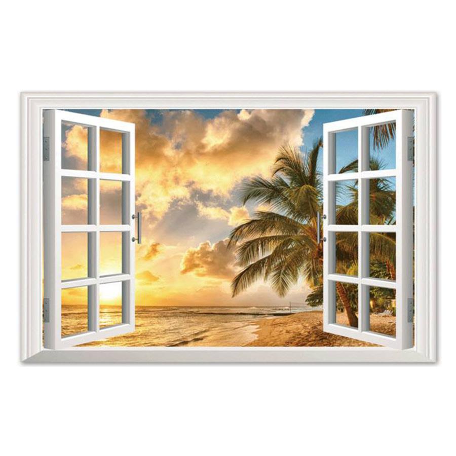Decal Cửa Sổ Nắng Chiều Lala Shop DC1401 (60 x 90 cm)