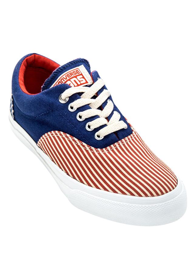Giày Sneaker Nam Converse 143990V - Xanh Phối Đỏ