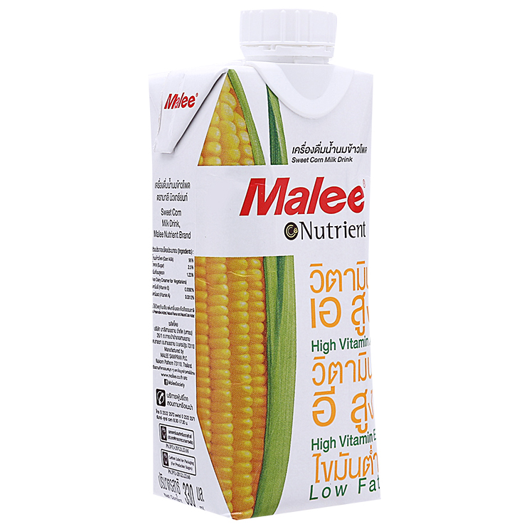 Sữa Bắp Malee Nutrient Hộp 330ml