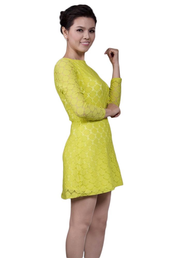 Đầm Suông Ren GaiA DA2 - Xanh