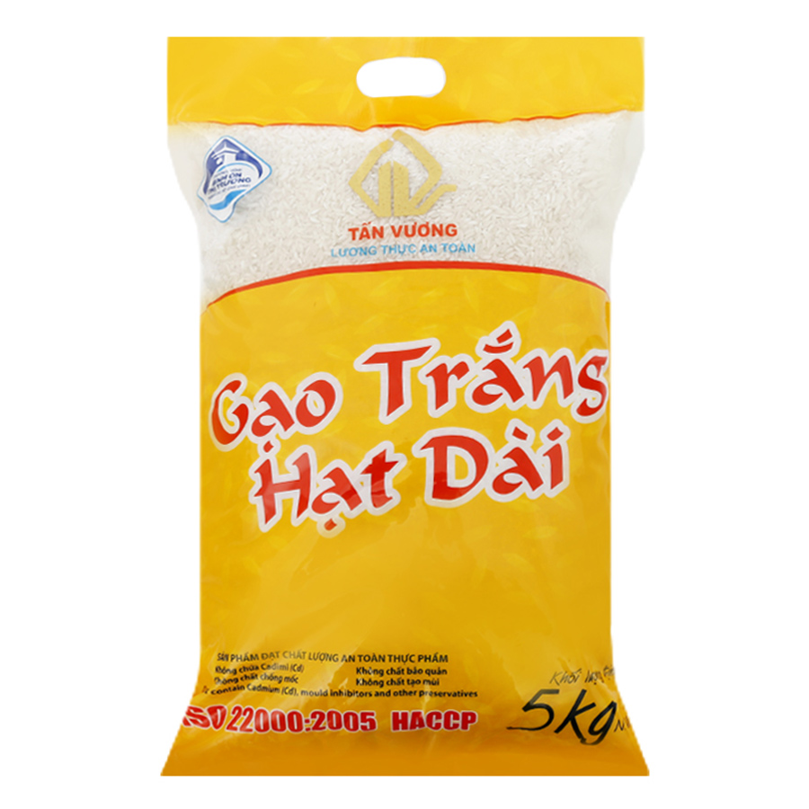 Gạo Trắng Hạt Dài Tấn Vương (5kg)