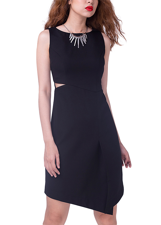 Đầm Body Cut-out Hity DRE055-ĐEN NOIR - Đen Noir