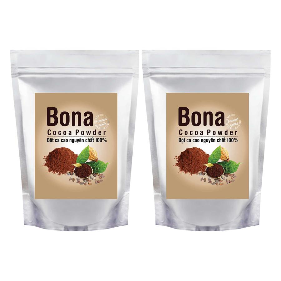 Bộ 2 Bột Cacao Cao Cấp Bona Cacao