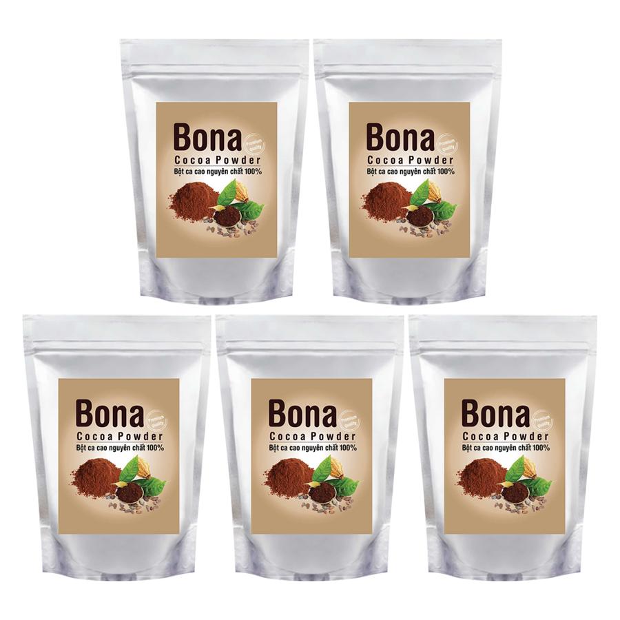 Mua Bộ 5 Bột Cacao Cao Cấp Bona Cacao