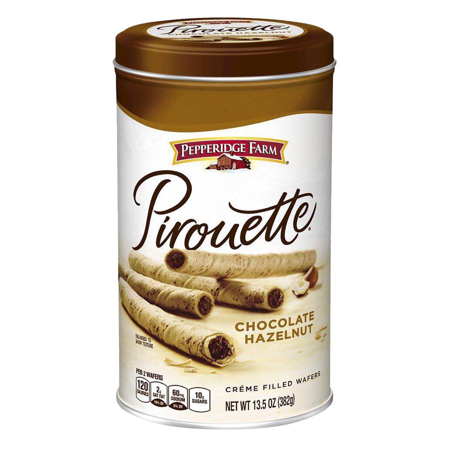 Bánh Quế Vị Socola Hạt Dẻ Pirouette Pepperidge Farm (382g)