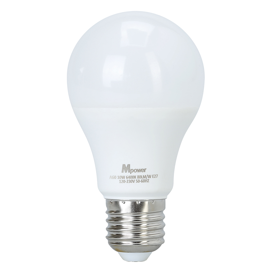 Đèn LED Bóng Tròn Mpower 10W - 6400K (10W) - Ánh Trắng