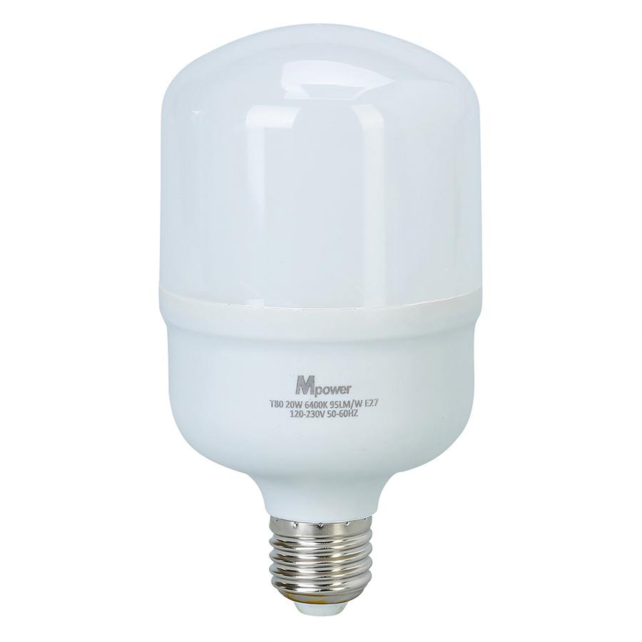 Đèn LED Bóng Tròn Mpower 20W - 6400K (20W) - Ánh Trắng