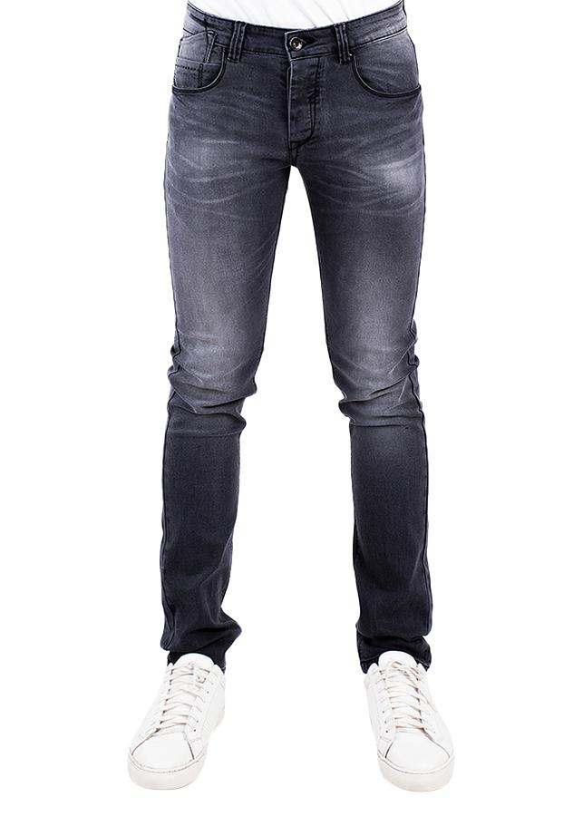 Quần Jeans Nam Skinny Wash Râu Mèo A91 JEANS MSKBS196GY - Xám