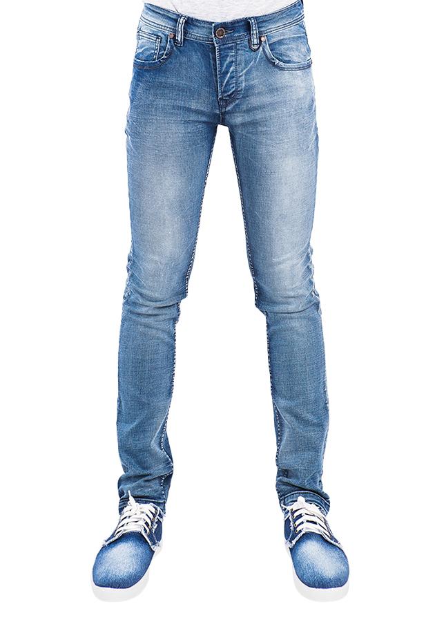 Quần Jeans Nam Skinny Wash Sáng A91 JEANS MSKBS162LG - Xanh Nhạt