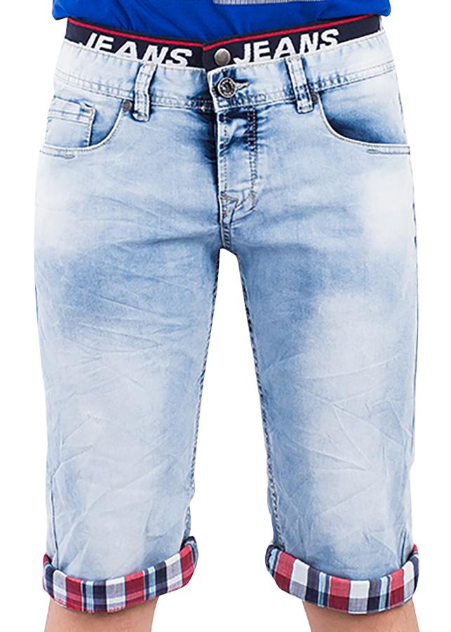 Quần Short Jeans Nam Wash Loang A91 JEANS MSRBS201ME - Xanh Nhạt