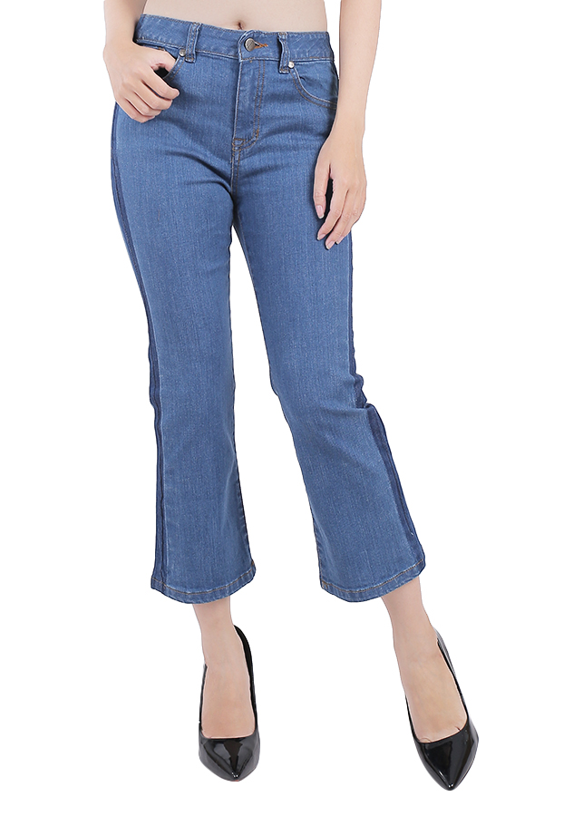 Quần Jeans Nữ Ống Loe A91 JEANS WFLBS011ME - Xanh