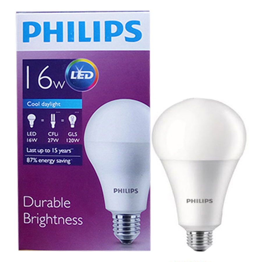 Bóng Đèn Philips Ledbulb Highlumen 16W-120W E27 6500K 230V A75