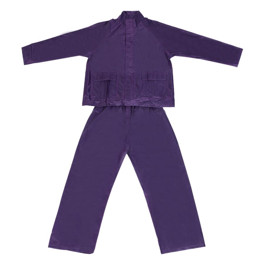 Áo Mưa Bộ Cotoco Vải Polyester Cao Cấp #2000-3 - Tím