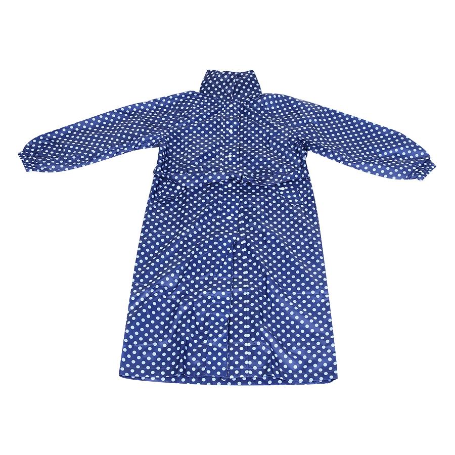 Áo Mưa Kiểu Nữ Vải Polyester #350-2 - Xanh Navy