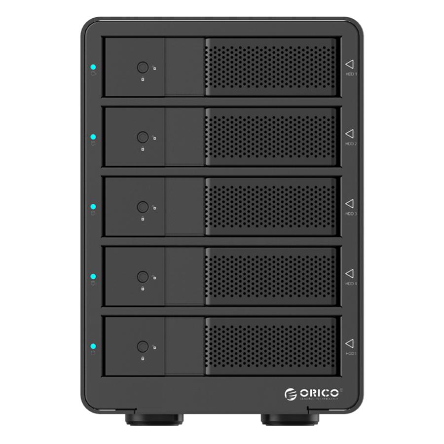 HDD Box 3.5'' 5 Khe Cắm SATA 3 Orico USB 3.0 9558RU3 - Hàng Chính Hãng