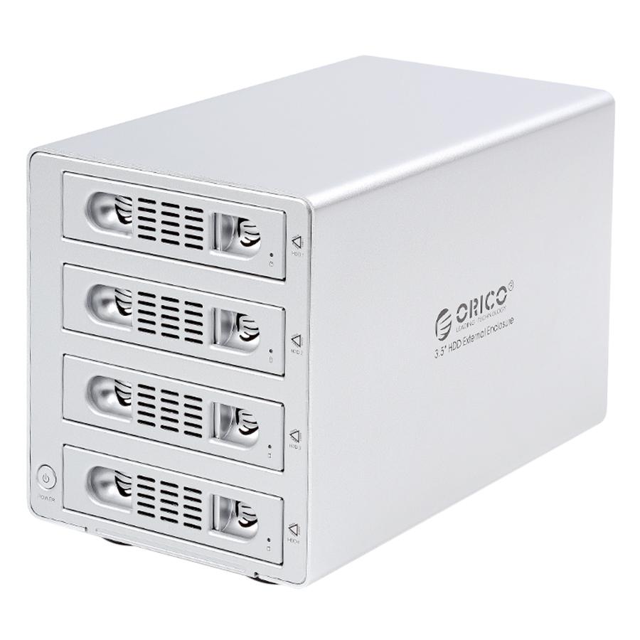 HDD Box 3.5'' 4 Khe Cắm SATA 3 ORICO USB 3.0 3549SUSJ3 - Hàng Chính Hãng