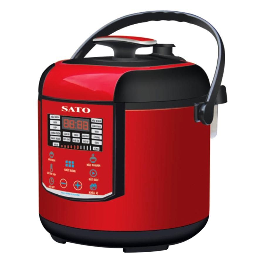 Nồi Áp Suất SATO ST-606PC (6L) - Đỏ