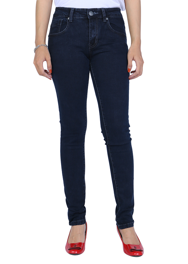 Quần Jeans Skinny Uni005 A91 JEANS WSKBS005ME - Xanh Đậm