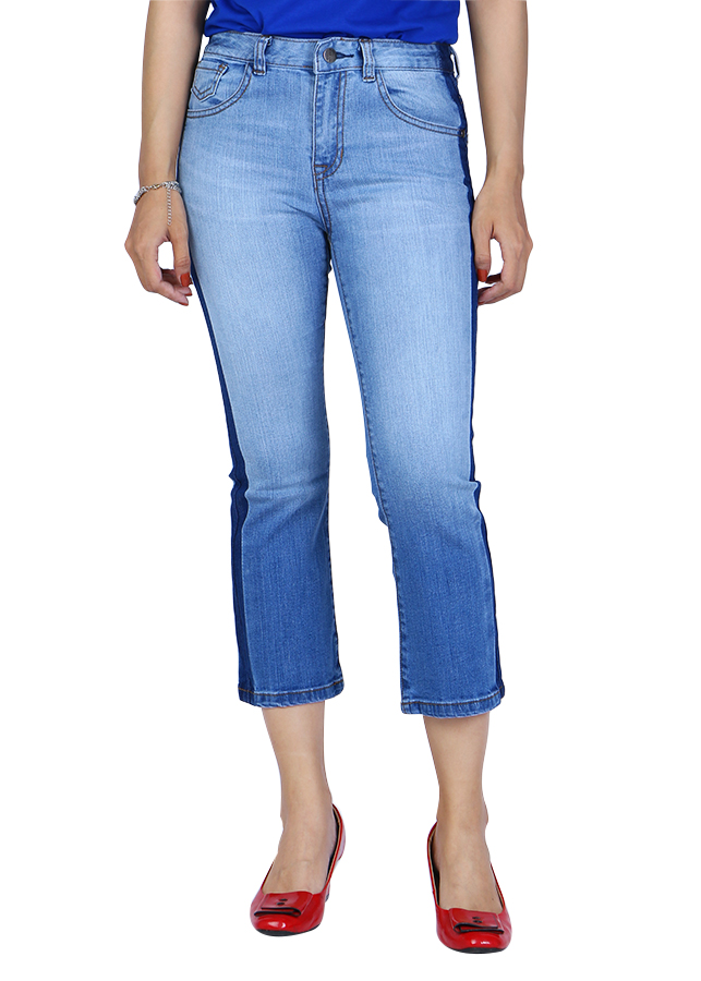 Quần Jeans Nữ Ống Loe 011 A91 JEANS WFLBS011LG - Xanh