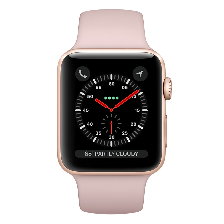 Apple Watch Series 3 Gold Aluminum Case With Pink Sand Sport Band