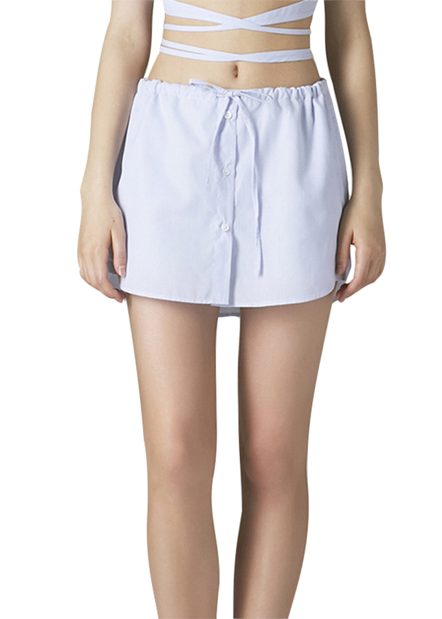 Quần Ngắn Giả Váy Lai Áo Sơ Mi Can De Blanc SET/S17X9016 - Sanh Sọc Tăm