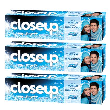 Combo 3 Kem Đánh Răng Close Up Pha Lê Tuyết - Hương Lộc Đề (230g/Tuýp)