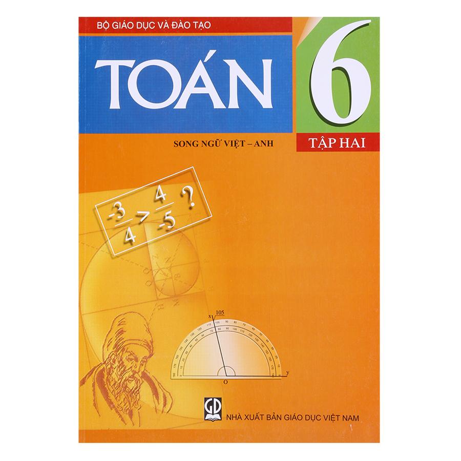 Sách Toán Lớp 6 - Tập 2 (Song Ngữ Việt - Anh)