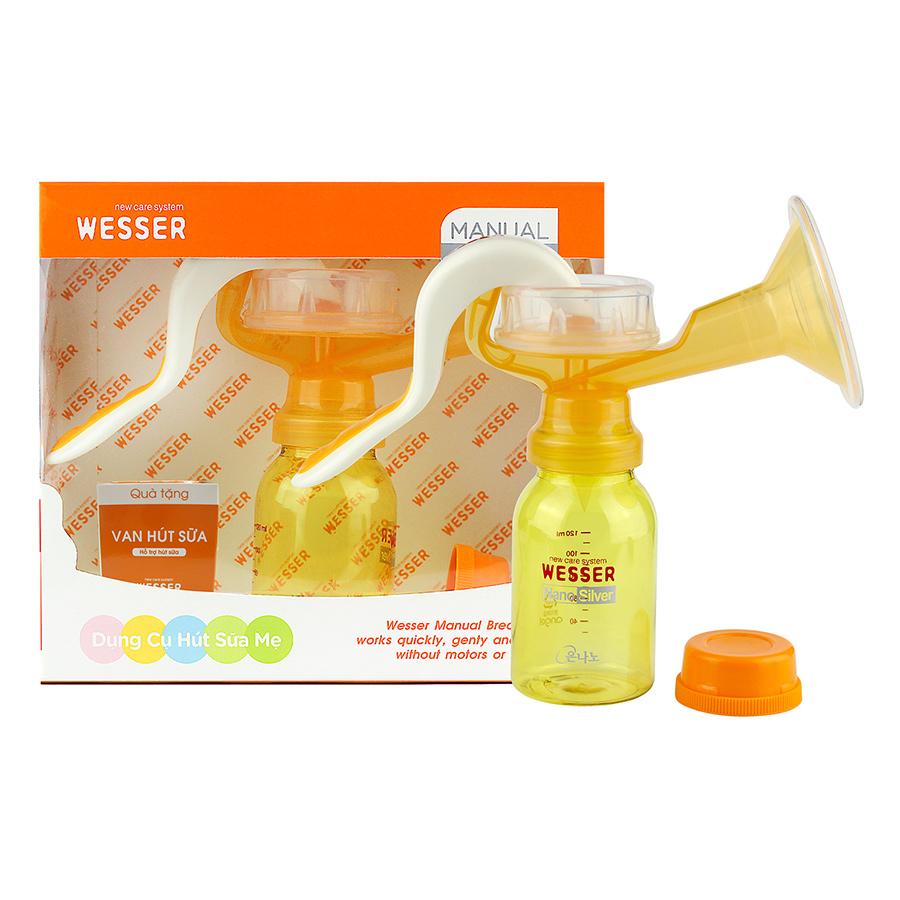 Bộ Dụng Cụ Hút Sữa Bằng Tay Wesser - Cam