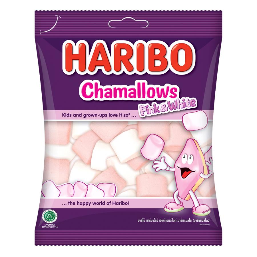 Kẹo Xốp Haribo Chamallows Pink  White (150g)
