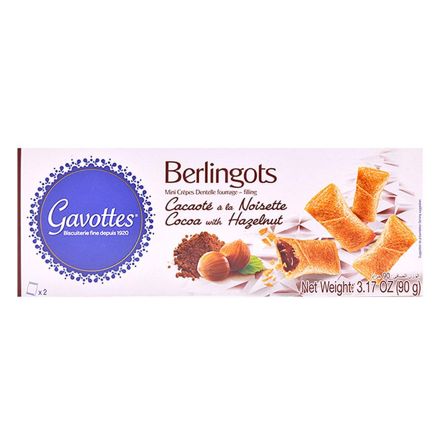 Bánh Gavottes Berlingots Nhân Ca Cao  Hạt Dẻ (90g)