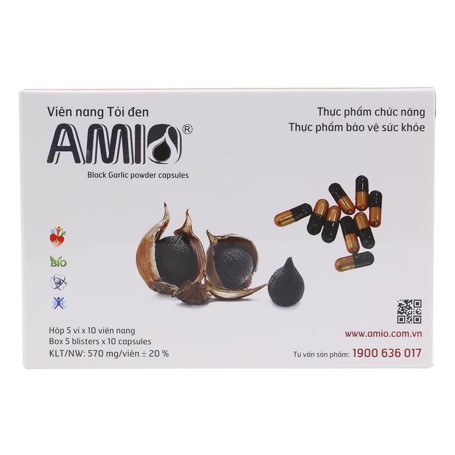 Viên Nang Tỏi Đen Amio AVN050 (Hộp 5 Vỉ x 10 Viên)