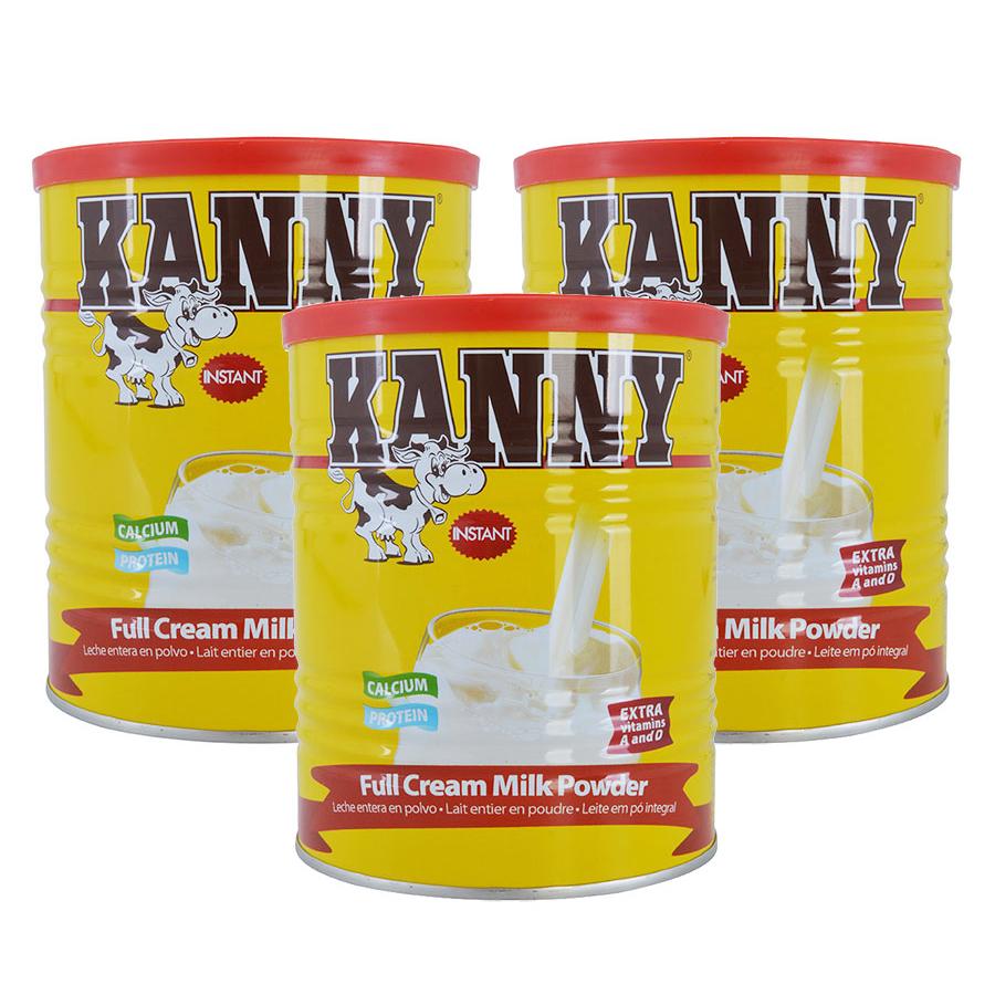 Combo 3 Hộp Sữa Bột Nguyên Kem Kanny 28% Chất Béo (400g / Hộp)