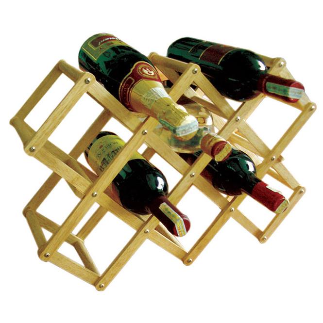 Kệ Rượu Xếp 10 Chai Gỗ Đức Thành – 40401