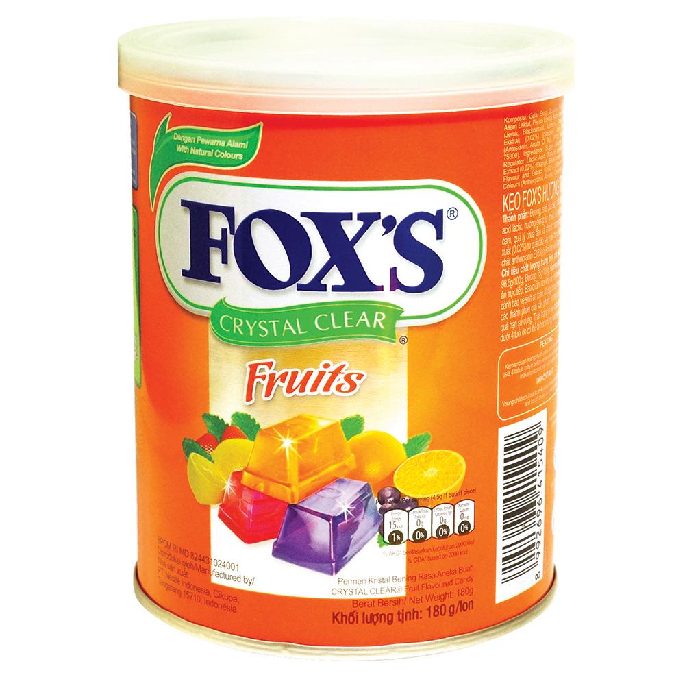 Kẹo Fox's Hương Trái Cây Hộp 180g