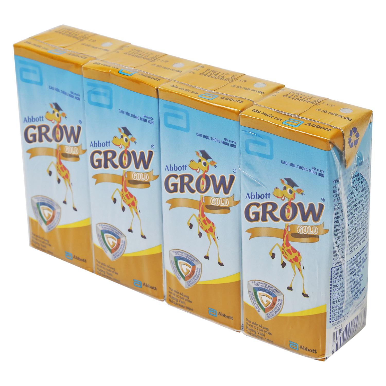 Lốc 4 Hộp Sữa Công Thức Pha Sẵn Abbott Grow Gold Hương Vani (180ml)