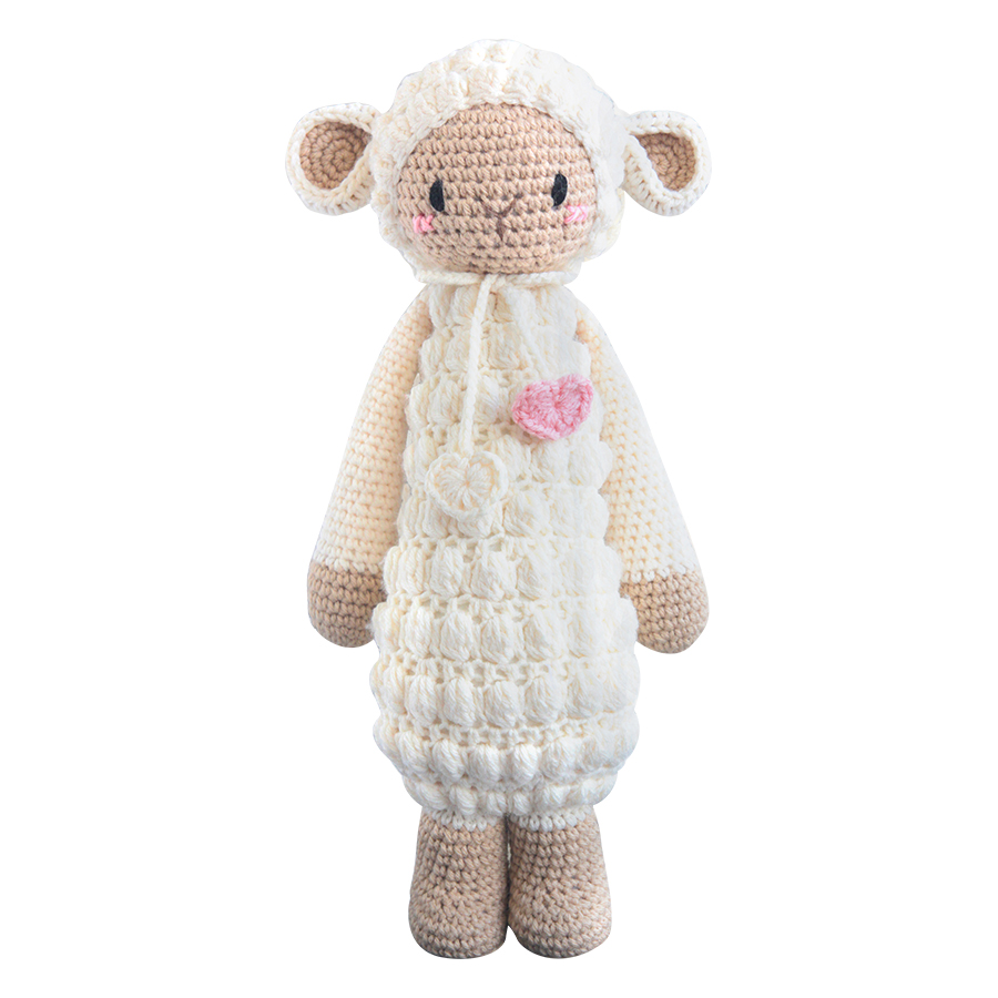 Thú Bông Cừu Barbra Bobi Craft Đứng WT-212CRE-F-M (Kem - Nâu)