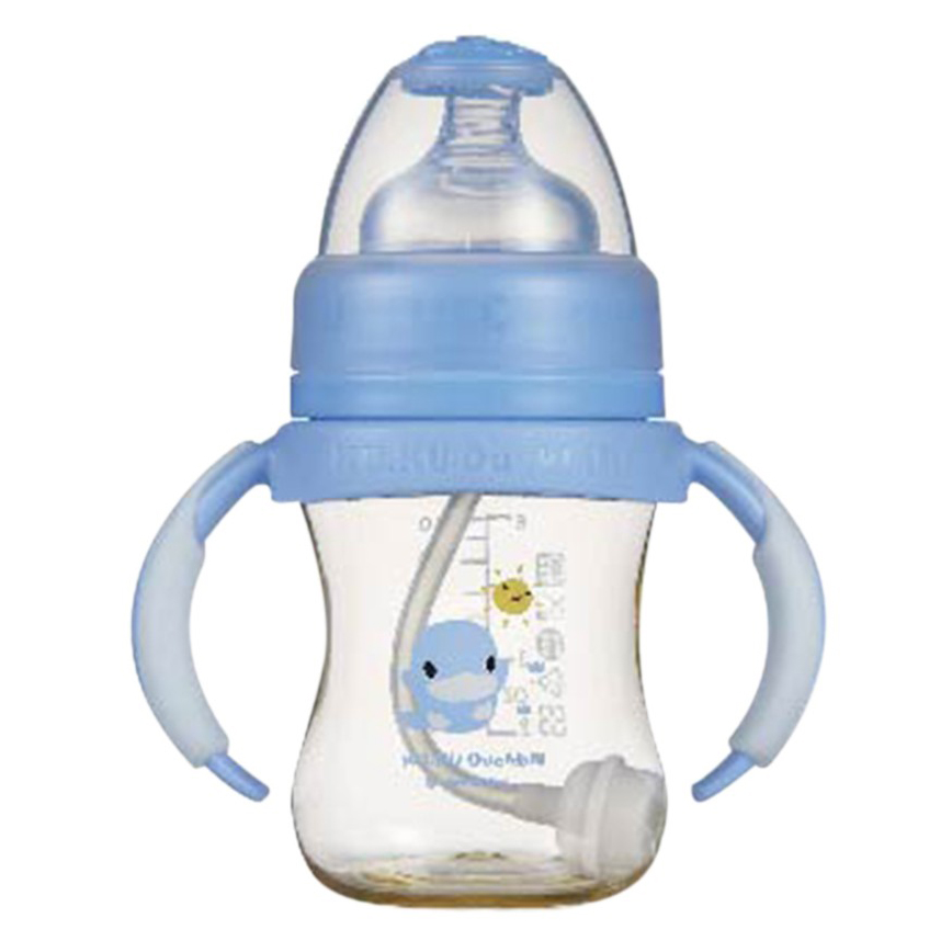 Bình Sữa PES Cổ Rộng Kuku Có Tay Cầm KU5837 (140ml)