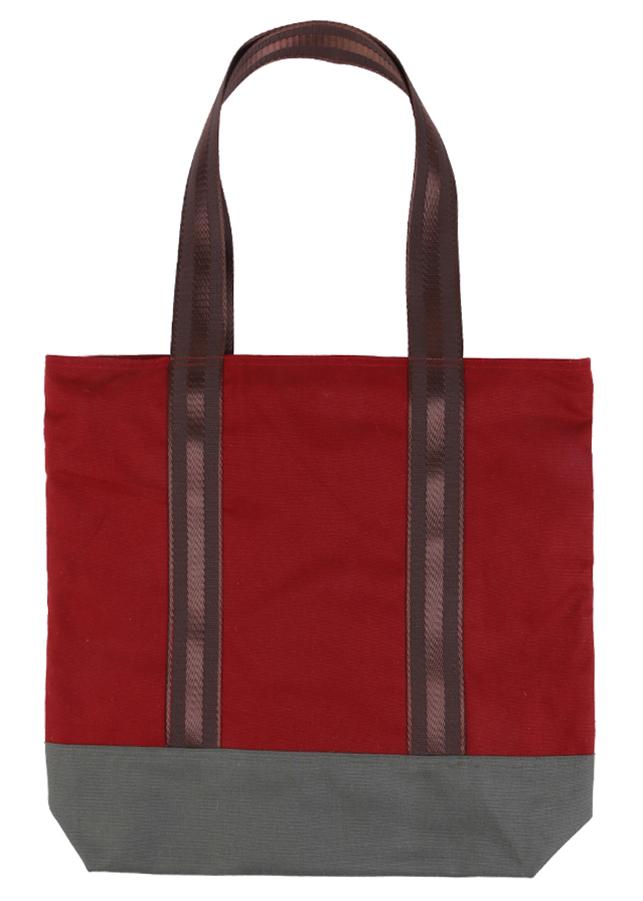 Túi Xách 3 Ngăn Vải Bố Xanh Canvas BSVMXC01173 (35 x 35 cm) – Đỏ Phối Rêu