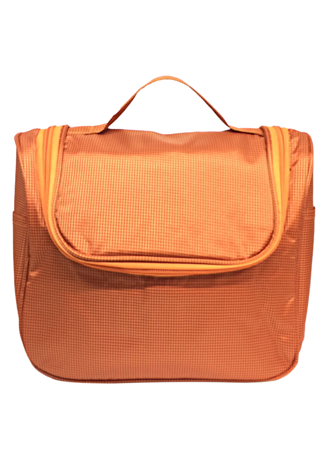 Túi Đựng Đồ Mỹ Phẩm Đa Năng Không Thấm Nước Có Xách Tay Thành Nam TNTT0144 (23.5 x 21 cm) - Cam