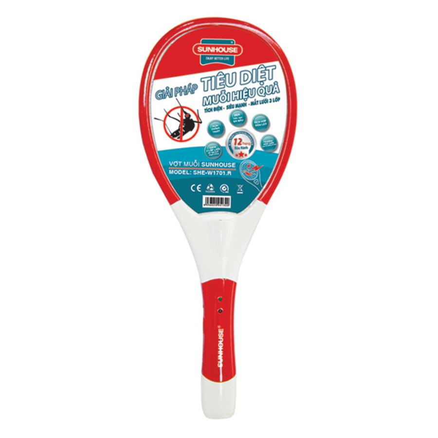 Vợt Muỗi Sunhouse SHE - W1701.R - Đỏ