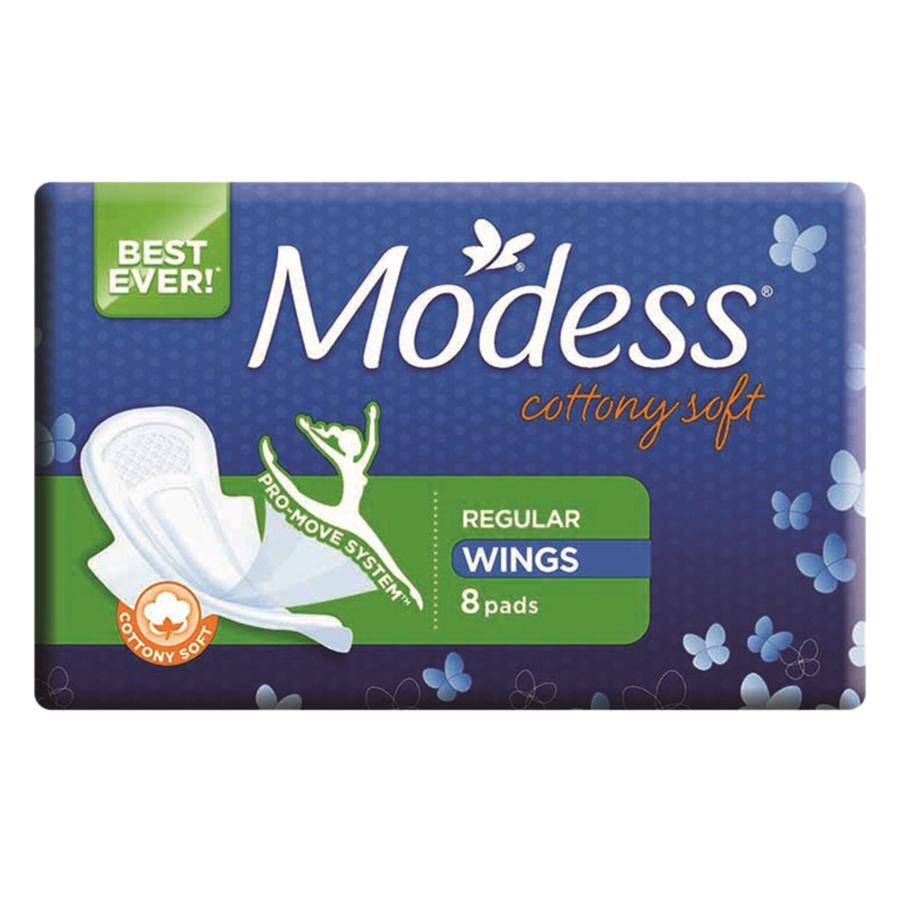 Băng Vệ Sinh Modess Cottony Soft Loại Dày (8 Miếng)