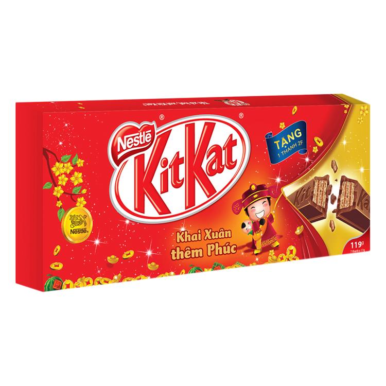Hộp 6 Thanh Socola KitKat 2F (119g) -100825757