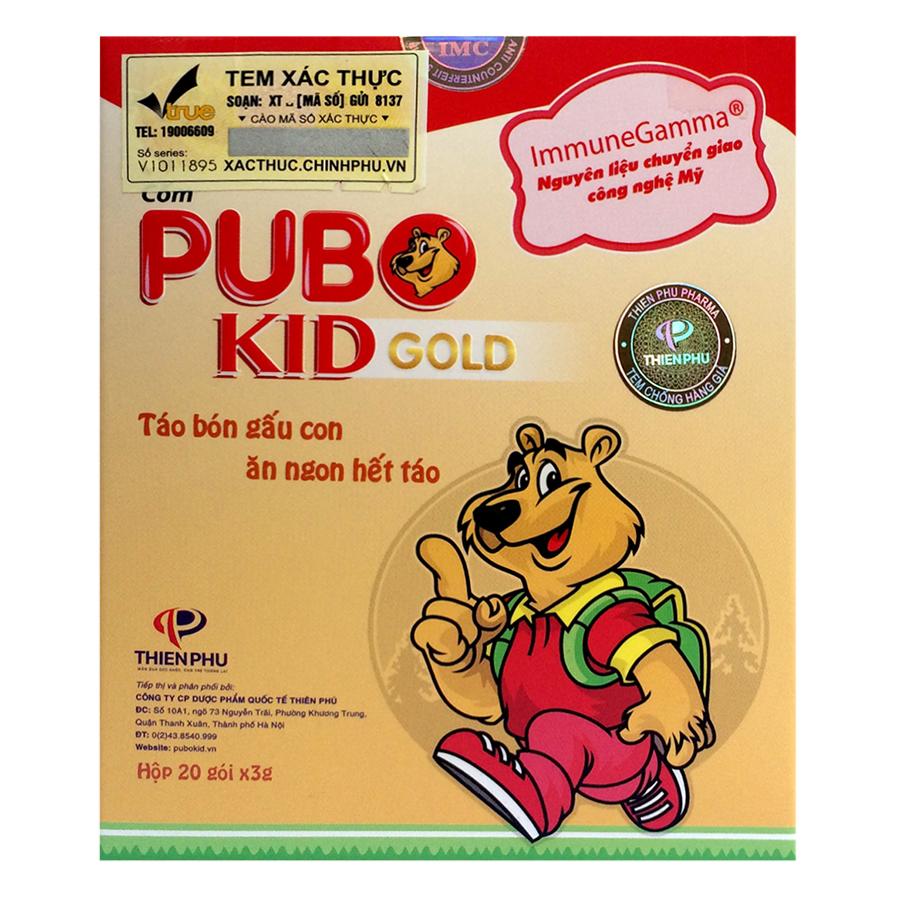 Cốm Pubo Kid Gold PB2010 (20 Gói x 3g)