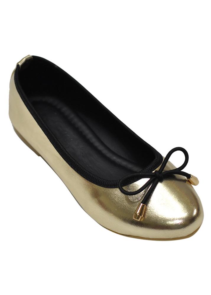 Giày Búp Bê Nơ Me Girl 92275 - Vàng Đồng