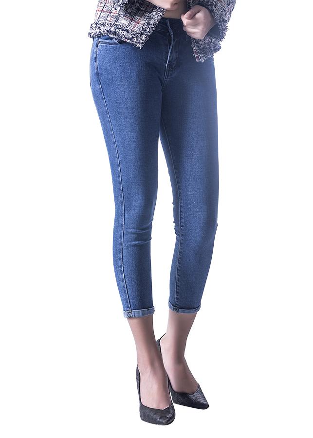 Quần Jeans Skinny AAA Jeans Lửng Trơn Xanh Alice SKDVT_AL