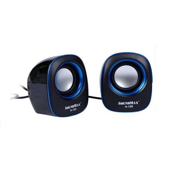 Loa Vi Tính SoundMax A-130/2.0 6W  - Hàng Chính Hãng