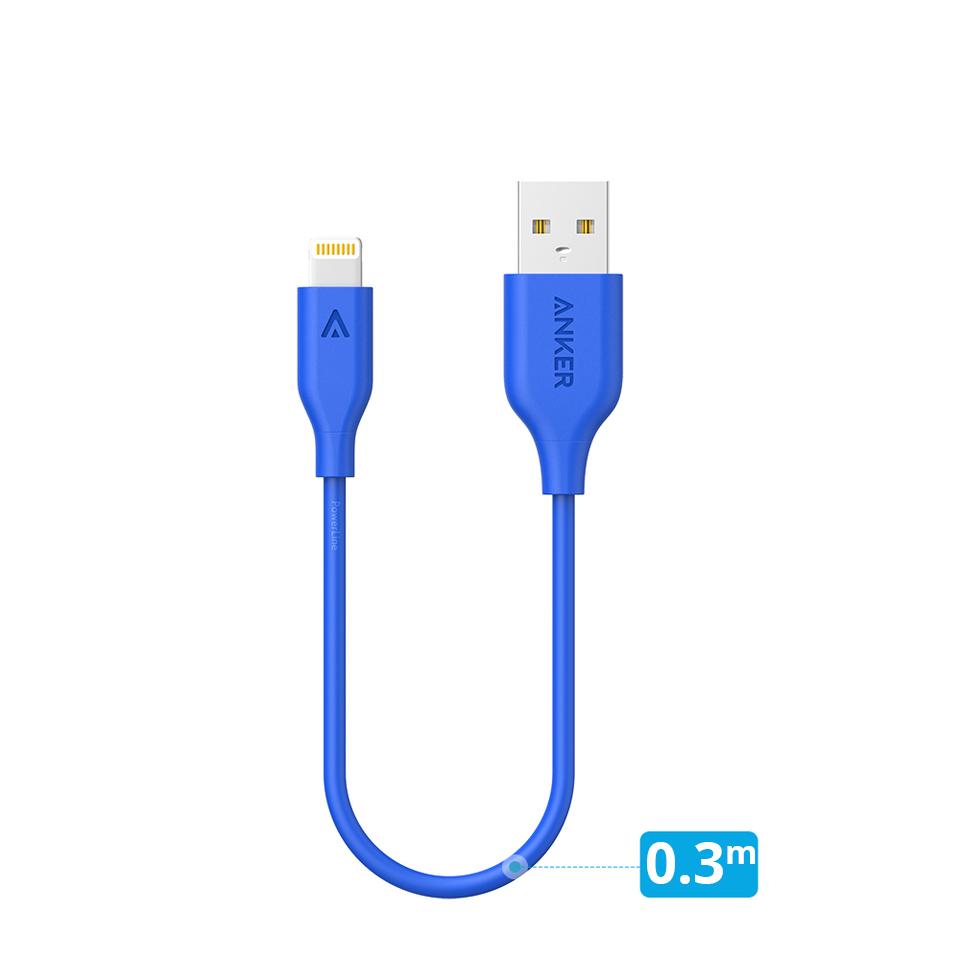 Dây Cáp Sạc Lightning Cho iPhone Anker PowerLine  0.3m - A8114 - Hàng Chính Hãng