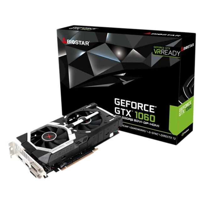 Card Màn Hình Biostar GeForce GTX1060 6GB DDR5 192BIT VN1065XP69 - Hàng Chính Hãng