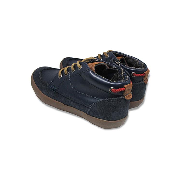 Giày Cổ Lửng Buộc Dây Bé Trai DA B1604 - Xanh Chàm