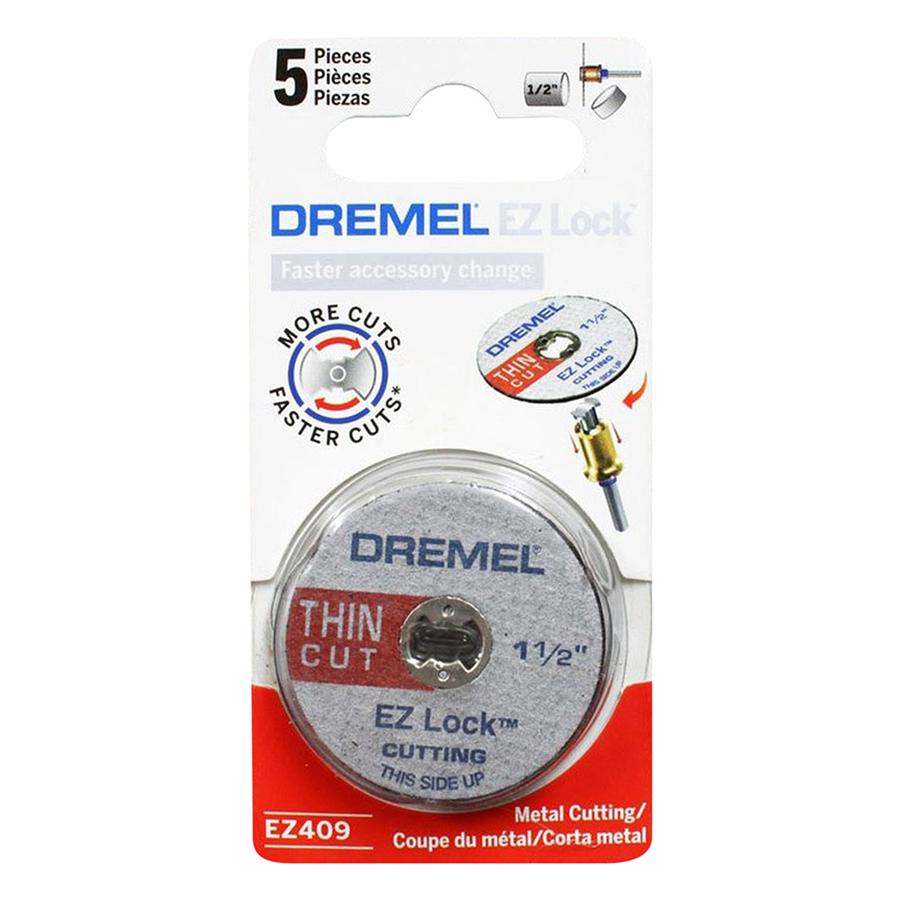 Bộ 5 Đĩa Cắt EZ Lock Dremel EZ409 (38mm) - Xám